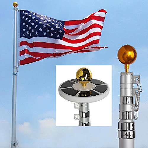 Telescopic Flag Pole Solar Light