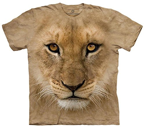 Tan Boys Shirt (The Mountain Cotton Bf Lion Cub Design Novelty Youth T-Shirt (Tan, L))
