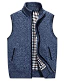 Product review for HOWON Mens Slim Fit Zip Up Knit Sweater Cardigan Vest Outwear Jacket