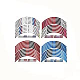 White Red 10 X Custom Rim Decals Wheel Reflective Stickers Stripes for BMW S1000RR