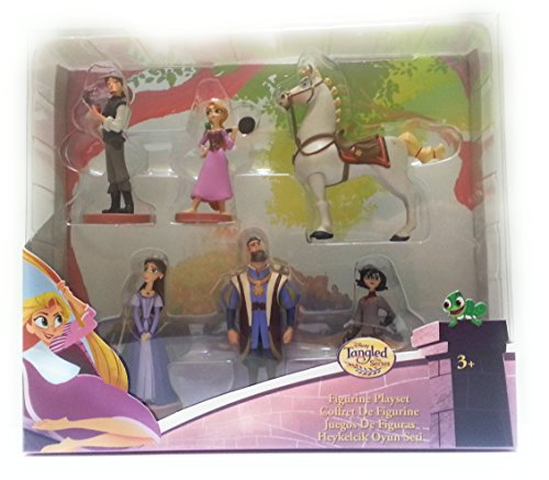 51VGYId3yXL Disney Collection Tangled: The Series Rapunzel 6 piece Figurine Playset Figure Play Set or Cake Topper
