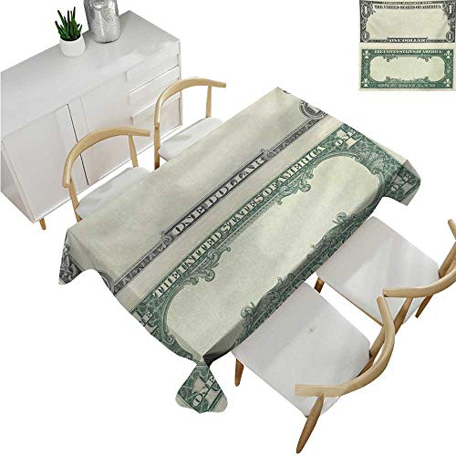 (familytaste Money,Fitted tablecloths,One Dollar Bill Buck Design American Federal Reserve Note Pattern Wealth Symbol,Tablecloths for Sale 54