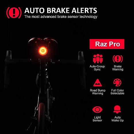 SHANREN Raz Pro Luz Trasera Inteligente de Bicicletas, Aviso de ...