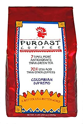 Puroast Coffee Colombian Supremo Blend Coffee