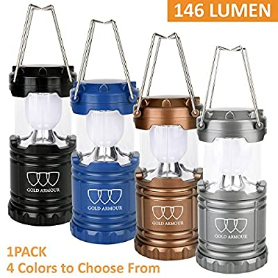LED Camping Lantern Flashlights - Hurricane Emergency Tent Light - Backpacking, Hiking, Fishing, & Outdoor Lighting Camping Equipment | Best Gifts for Men (3 AA Batteries Included)