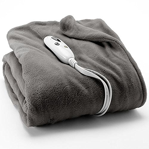 Biddeford Heated Plush Throw 50 X 62 Gray