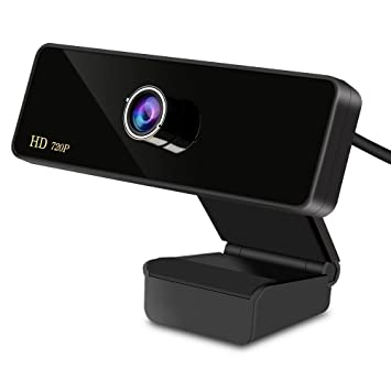 Aoleca 720P HD Webcam, Webcam Skype Cámara Gran Angular con Micrófono USB Plug and Play