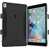 Poetic iPad Pro 9.7 Case, Corner/Bumper Protection, Dual Protection, Stylish PC, TPU Case with Pencil Holder, Compatible with Apple Smart Keyboard - Black