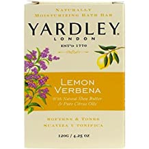 Yardley London Lemon Verbena Naturally Moisturizing Bath Bar, 4.25 ounce