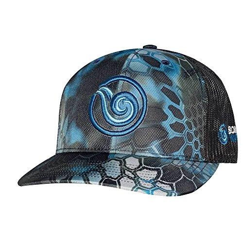 (Born of Water Scuba Diver Kryptek Camo Trucker Hat: Spearfishing | Fishing: Neptune)