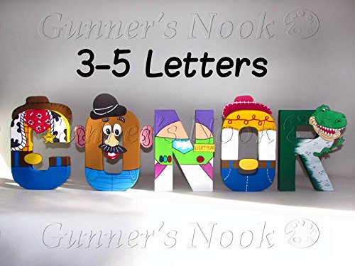 Amazon.com: Gunner's Nook, Toy Story, Character Letter Art, Wall