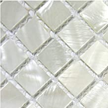 5 Sheets/lot Wholesale Mother of Pearl Tile Chip Size 4/5'' Squared Sheet Size 12''x12'' Kitchen Backsplash Shell Mosaic Art Deco Mesh Natural Mother of Pearl Mosaics Bathroom Mirror Tile Shower Wall Floor Fireplace Bar Hotel Wall Design Mosaic Tile by TST Mosaic TIles