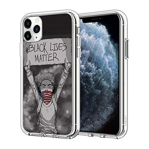 iPhone 12 Pro Max Case Black Lives Matter Pattern Clear Design Transparent Plastic Back Case Cover Explosion-Proof