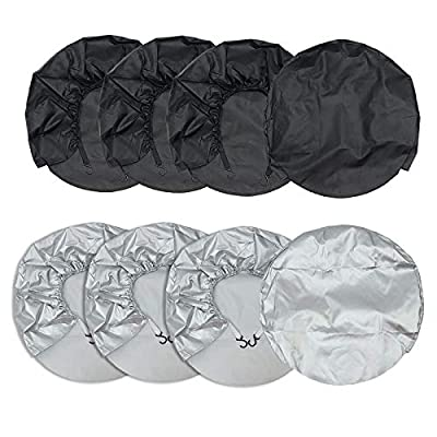 KINGSO Tire Covers Wheel Covers for RV Wheel Set of 4 Waterproof UV Coating Tire Protectors Suitable for Travel Trailer Trenches 27''