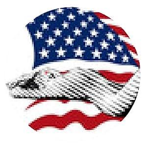 alfombrilla de ratón niña y la bandera de EE.UU. - ronda - 20cm