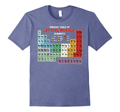 Table Graphics (Mens Star Wars Periodic Table of Elements Graphic T-Shirt C1 Medium Heather Blue)