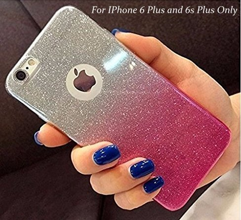00dd2efeb10 LOXXO Gradient Glitter Skin Soft Silicone Slim Back Cover Case for Apple  iPhone 6 plus 6s Plus (Pink) - Buy Online in Oman.