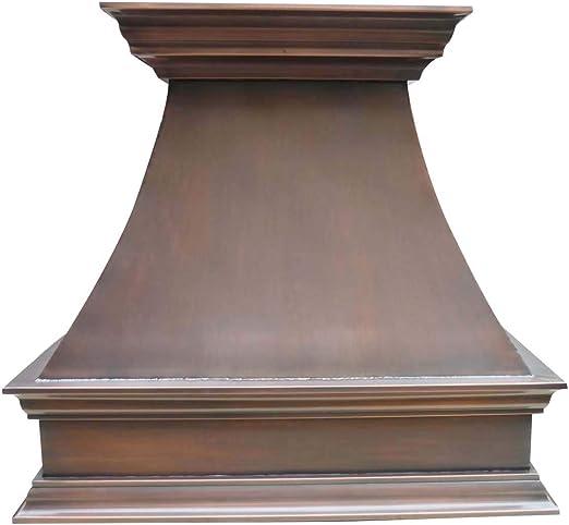 Sinda H18S - Campana de cobre con corona decorativa de acero inoxidable y ventilación que se unen a mano de cobre virgen sólido de calibre 16: Amazon.es: Grandes electrodomésticos