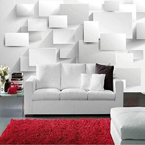 現代の3D簡潔なスタイルの写真の壁紙ホワイトスペースシルクの壁の壁画の部屋のリビングルームの天井3D大きな壁画-220X160CM