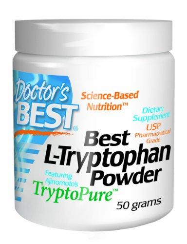 Meilleur médecin Tryptopure Meilleur Poudre L-tryptophane Doté, 50-grammes