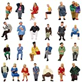 #8: P4806 25 pcs All Seated Figures O scale 1:43 Painted People Model Railway NEW