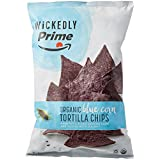Wickedly Prime Organic Tortilla Chips, Stone-Ground Blue Corn, 13 Ounce