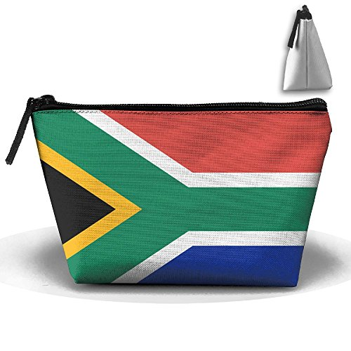 Flag Of South Africa Cute Trip Toiletry Bag Trapezoidal Zipper Receive Bag Travel Fashion by BabylLave