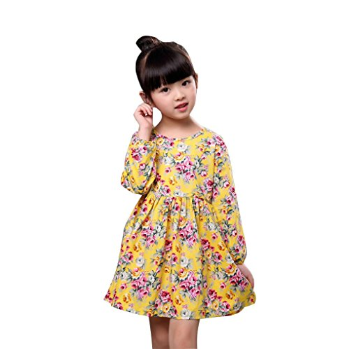 Girls Long Sleeve Floral Dress - 9