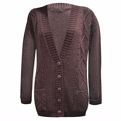 GRANDE TORSADE TAILLE GROSSE MAILLE P GRAND BOUTON NEUF FEMMES TRICOT 4wFrR4