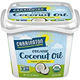 Carrington Farms Gluten Free, Unrefined, Cold Pressed, Virgin Organic Coconut Oil, 12 oz. (Ounce), Coconut Oil For Skin & Hair Care, Cooking, Baking, Smoothies – Packaging May Vary (2 Pack)