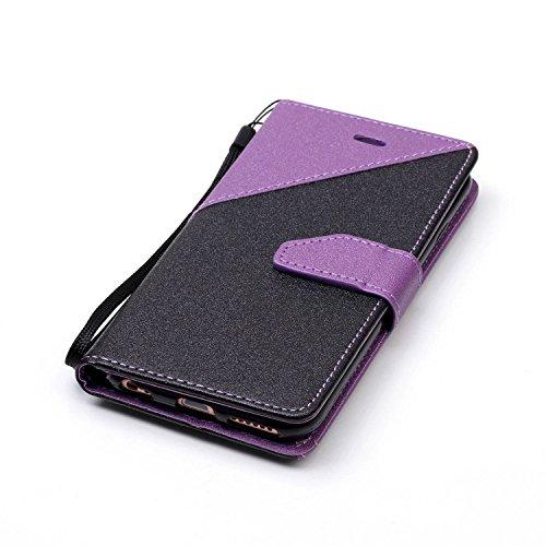 Funda PU Leather para iPhone 6 Cuero Cubierta Impresión Libro Carcasa - Sunroyal® iPhone 6SWallet Case [Anti-Arañazos] Flip Cover Empalme Contraportada Cierre Magnético Función Soporte,Billetera con T A-09