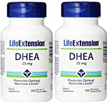 Life Extension Dhea , 25 Mg Tablets, 100-count x 2 For Sale