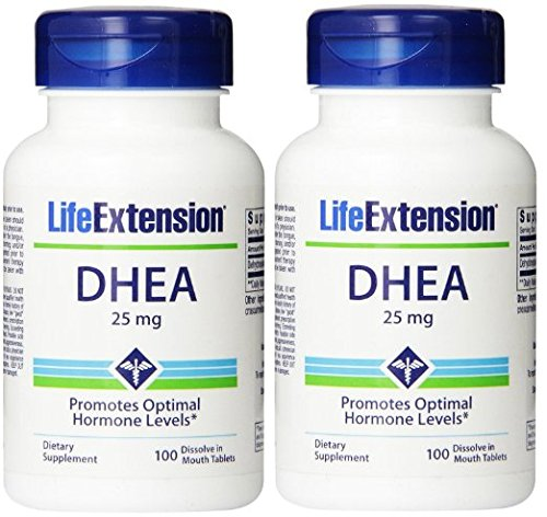 Life Extension Dhea , 25 Mg Tablets, 100-count x 2 by Life Extension