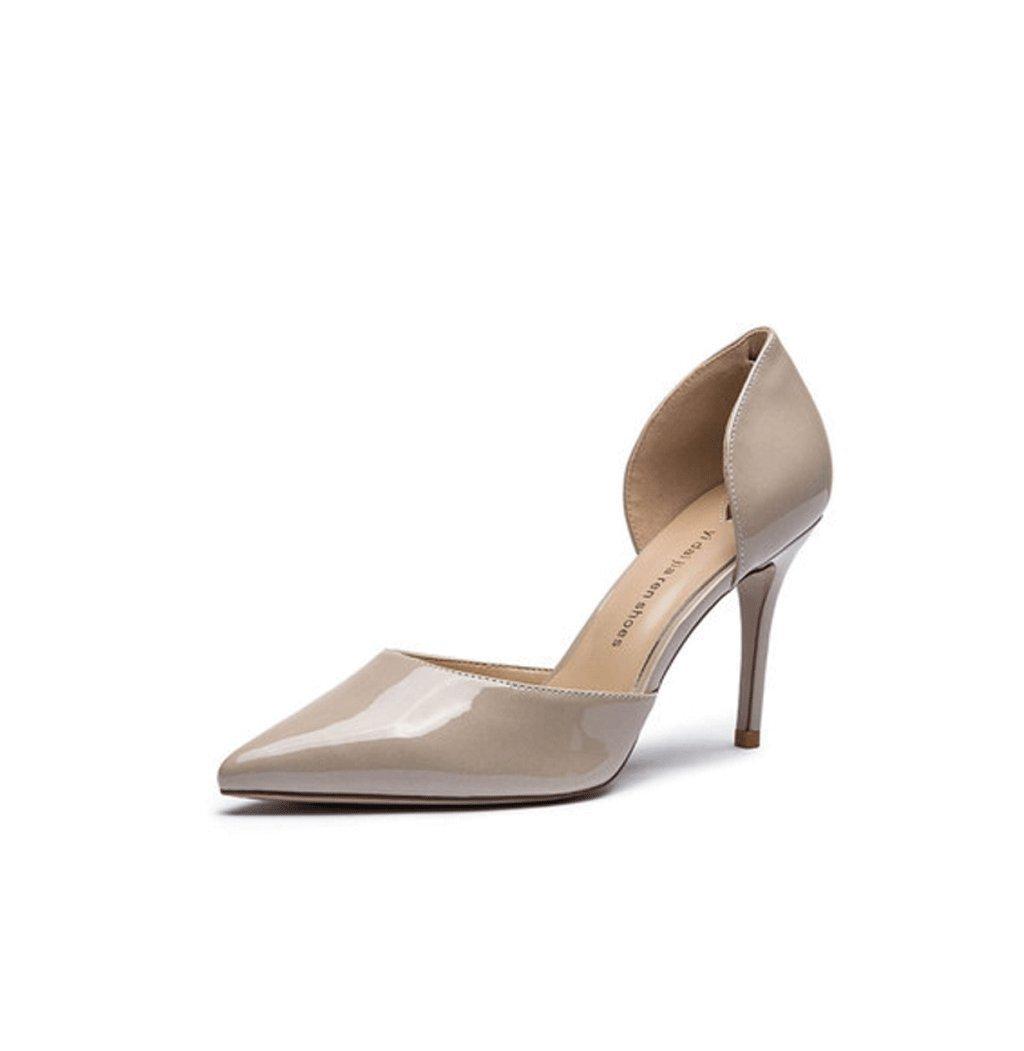 春夏新しいエレガントなハイヒールセクシーな尖ったレディース靴 37 グレー 1847134 37 グレー B073Z85QGB