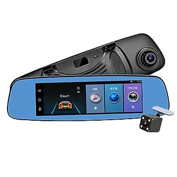1080P 10,9 cm Dashcam Recorder mit R/ückfahrkamera-Set Auto DVR Spiegel Dual-Linse 4,3 Zoll