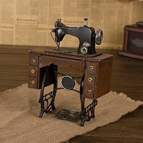 GFEI Maquina de coser antigua retro muebles hogar muebles hierro estaño modelo PROPS / tienda de ropa la decoracion de ventana,F: Amazon.es: Hogar