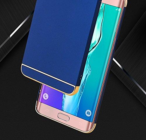 Samsung Galaxy S6 Funda,Samsung S6 edge Funda, estilo sencillo,Alta Calidad Ultra Slim Anti-Rasguño y Resistente Huellas Dactilares Totalmente Protectora Caso de Plástico Duro Cover Case(ZG-02) Blue