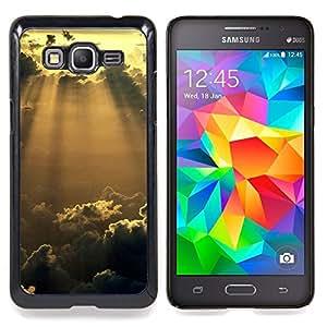 "Qstar Arte & diseño plástico duro Fundas Cover Cubre Hard Case Cover para Samsung Galaxy Grand Prime G530H / DS (Sunshine Nubes Glow"")"