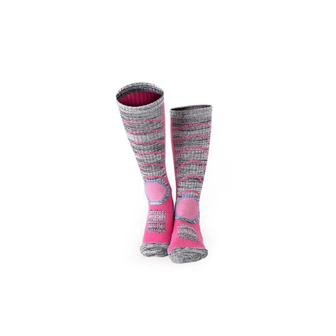 Delicacydex Komfortable Keep Warme Winter Männer Frauen Lange Ski Socken Dicker Baumwolle Outdoor Sports Snowboard Klettern Wandern Socken - Rose Red
