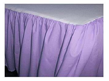 Bedroom Fashions Twin Daybed Ruffled Purple Lilac Bed Skirt Dust Ruffle Split Corners Made in USA (14