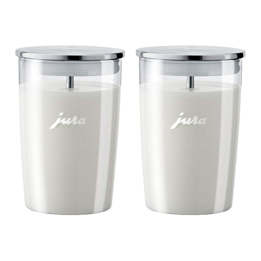 Jura 72570 Glass Milk Container, Clear 2-Pack Bundle by Jura