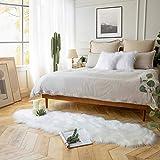 Ashler Ultra Soft Faux Sheepskin Fur Rug White