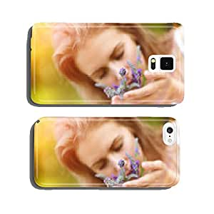 Woman holding flowers cell phone cover case iPhone6 Plus