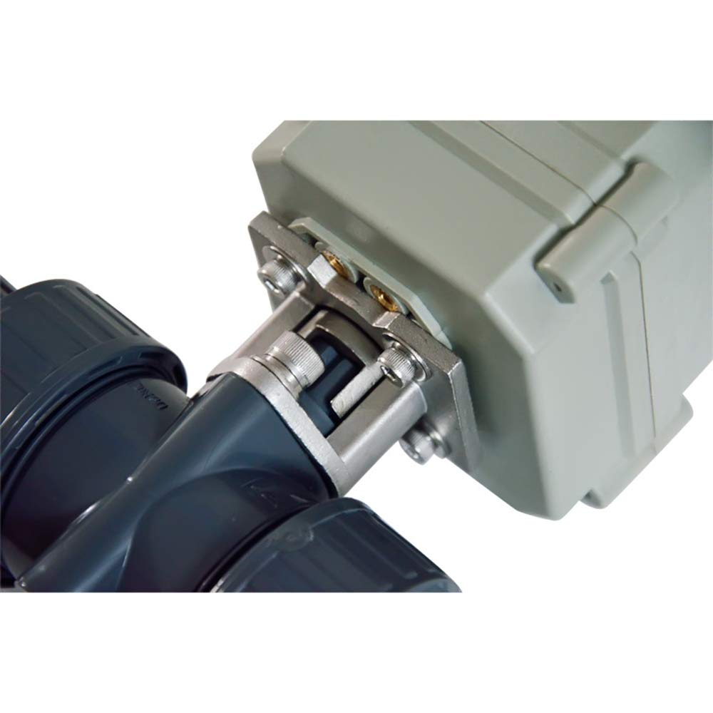 Two Way Two-Wires Control Normally Closed 1 1//4 Inch DN32 AC//DC110-230V PVC Motorized Ball Valve with Position Indicator