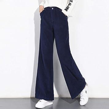 amazon pantalon de pana azul mujer