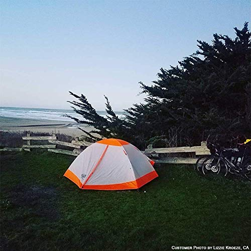 Hyke & Byke Yosemite 1 Person Backpacking Tent with Footprint – Lightweight Two Door Ultralight Dome Camping Tent (1P – Orange)