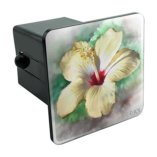 Graphics and More Tropical Yellow Hibiscus Flower Hawaiian Vacation Tow Trailer Hitch Cover Plug Insert 2