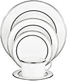 Kate Spade New York Library Lane Platinum Dinnerware 5 Piece Place Setting