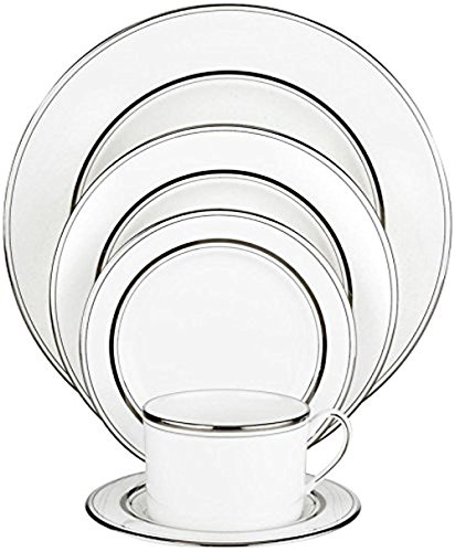Platinum Fine Dinnerware - Kate Spade New York Library Lane Platinum Dinnerware 5 Piece Place Setting
