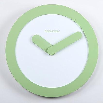 Reloj de pared moderno IKEA residencia Oficina relojes madera estilo minimalista Reloj de pared redondo